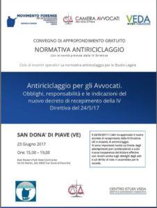 Antiriciclaggio - Camera Avvocati: 3-06-2017